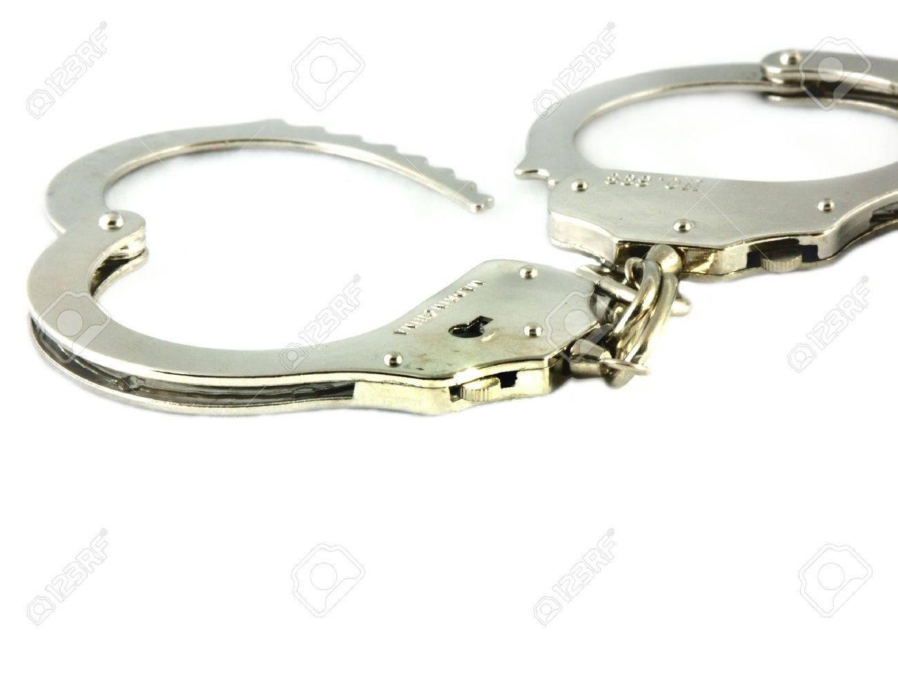 isolated highkey handcuffs Stock Photo - 286172
