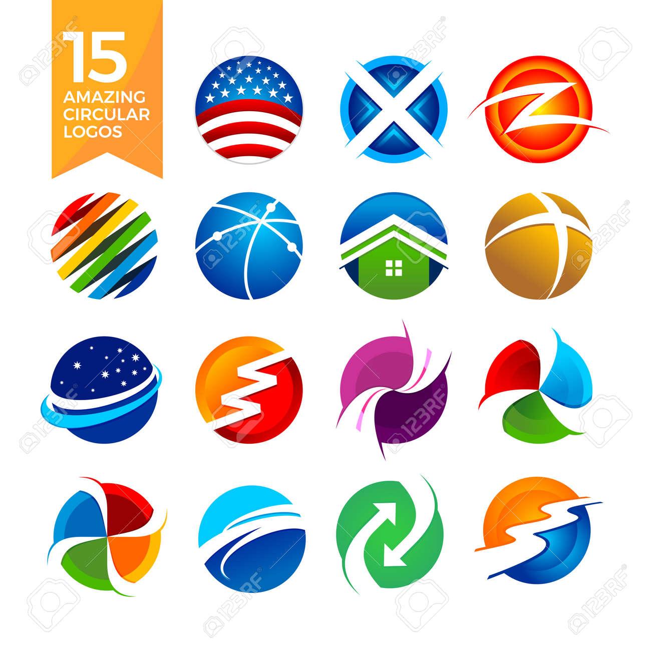 15 Amazing Circular Shape Logo Symbol Graphic Designs Royalty Free