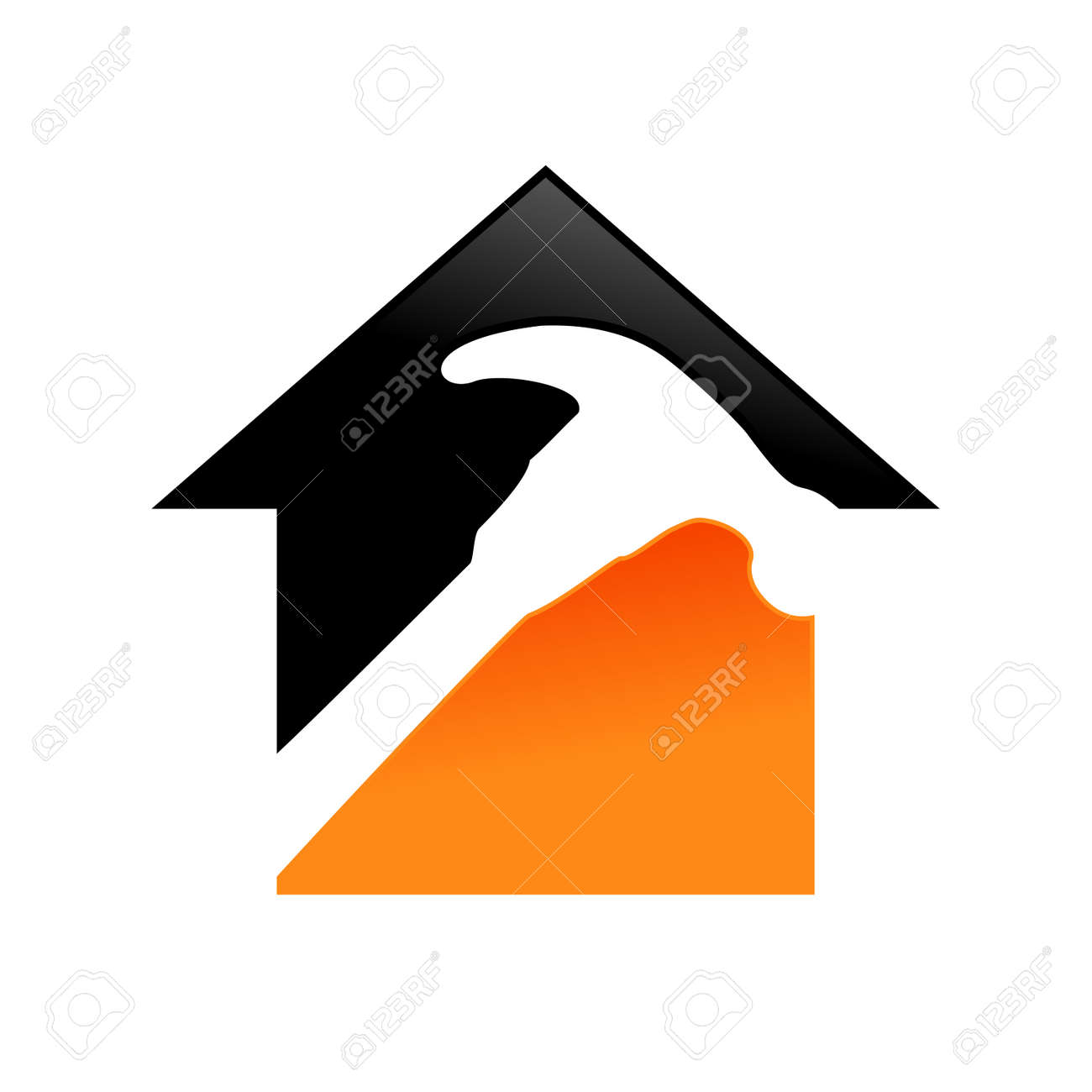 Home Repair Service Vector Symbol Graphic Logo Design Template - 105623138