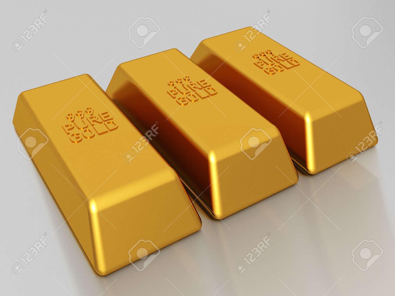 Gold bars of 999 pure gold bullion Stock Photo - 2836439