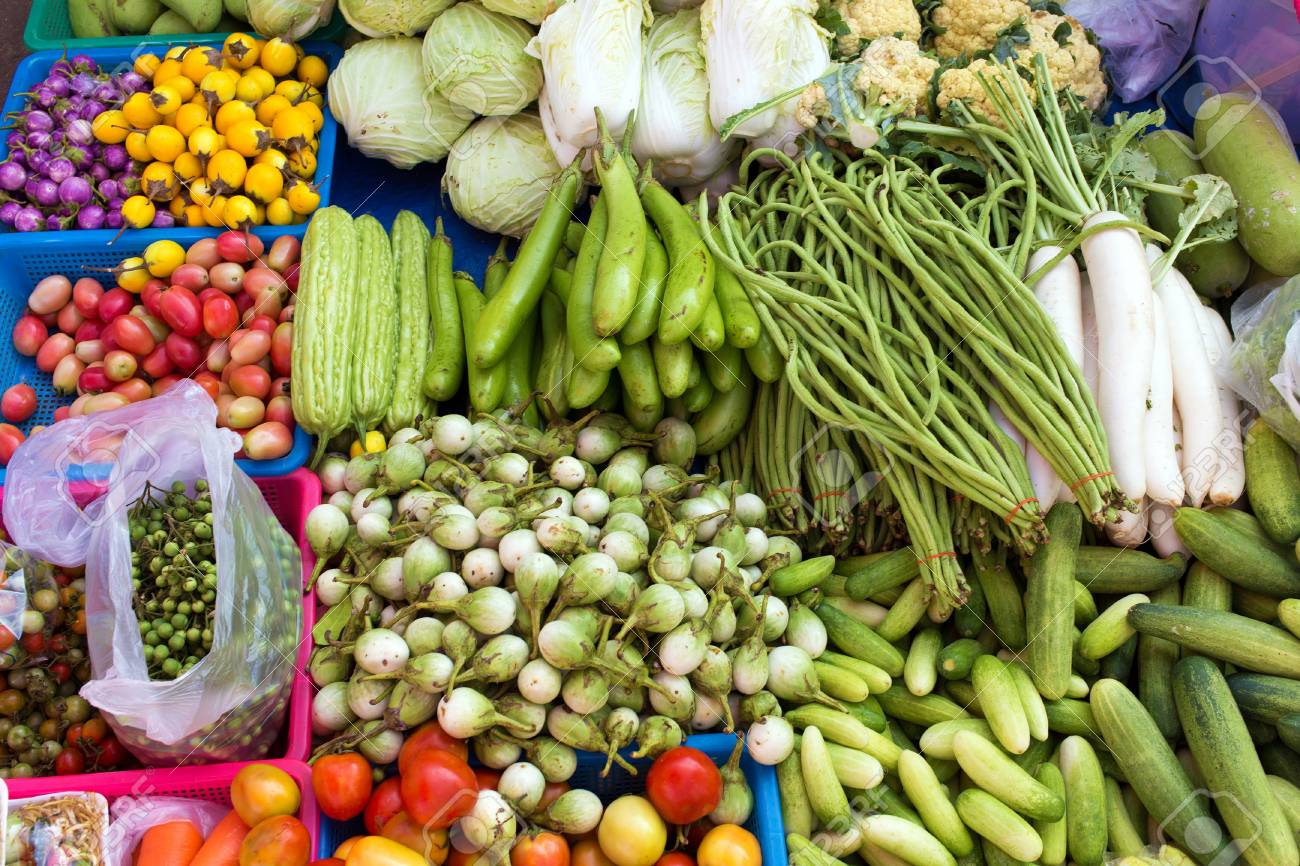 Pijaca.... - Page 2 67049292-tropical-vegetables-in-market-thailand