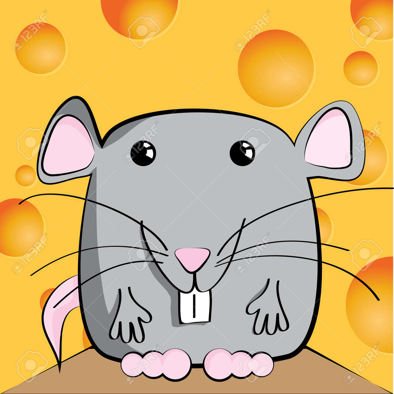 Cute mouse cartoon character Stock Vector - 12402259