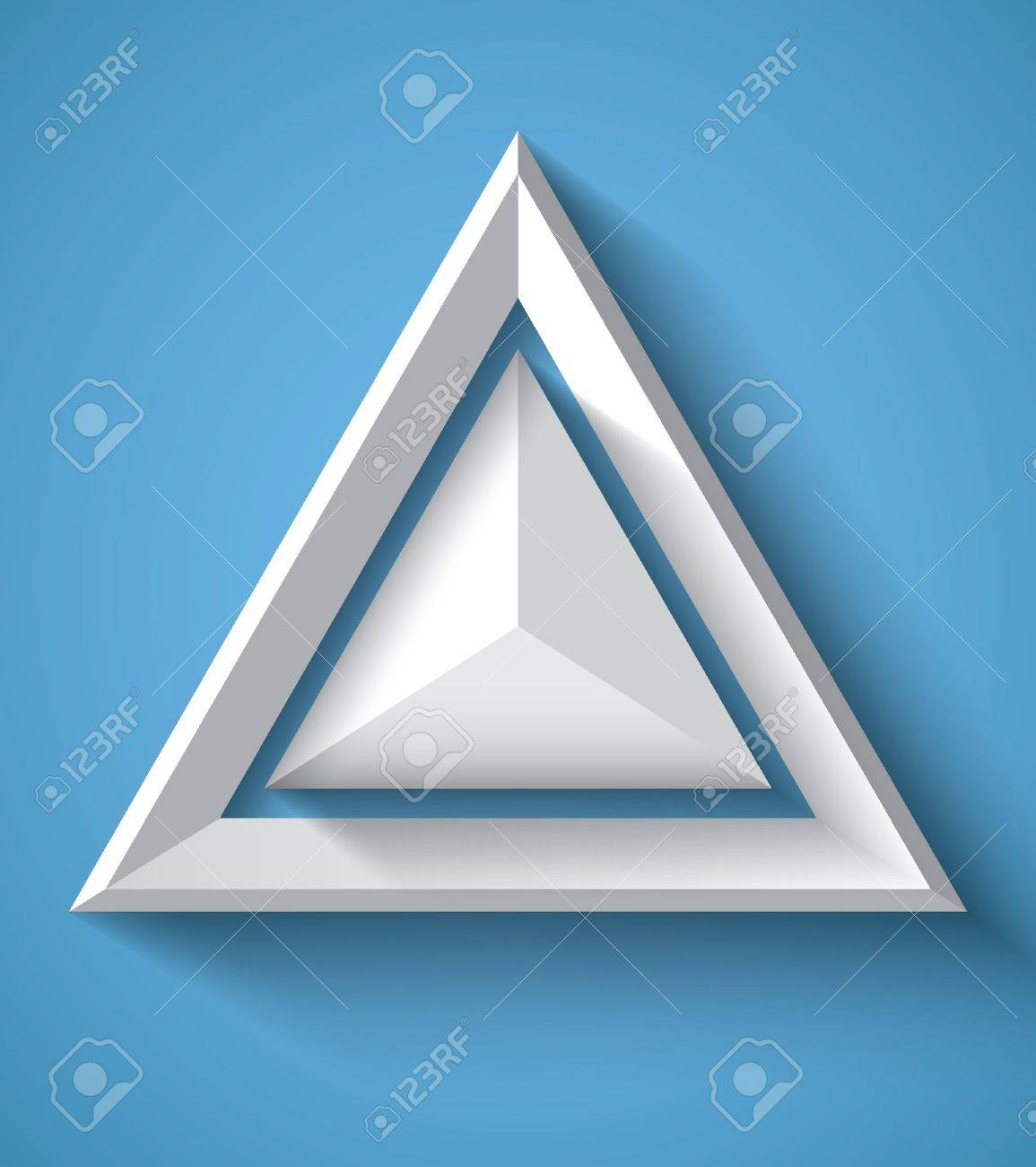 Realistic geometrical background with triangle Stock Vector - 18982035