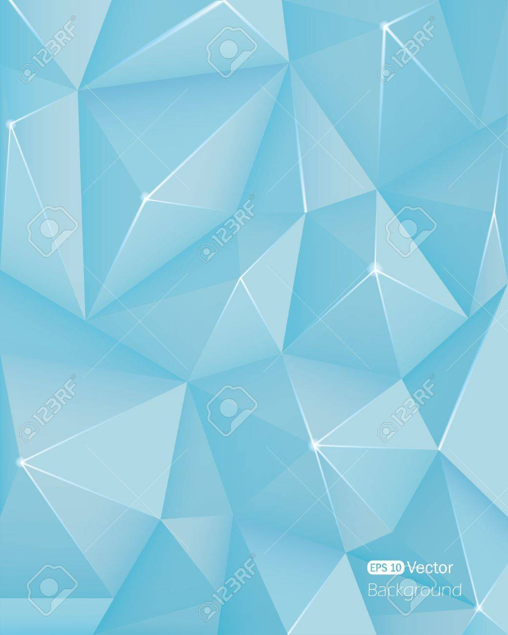 Abstract Light Blue Triangle Background
