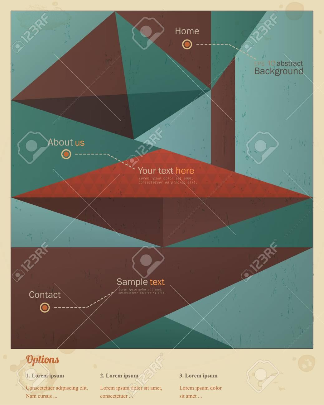 Geometric retro background Stock Vector - 18982075