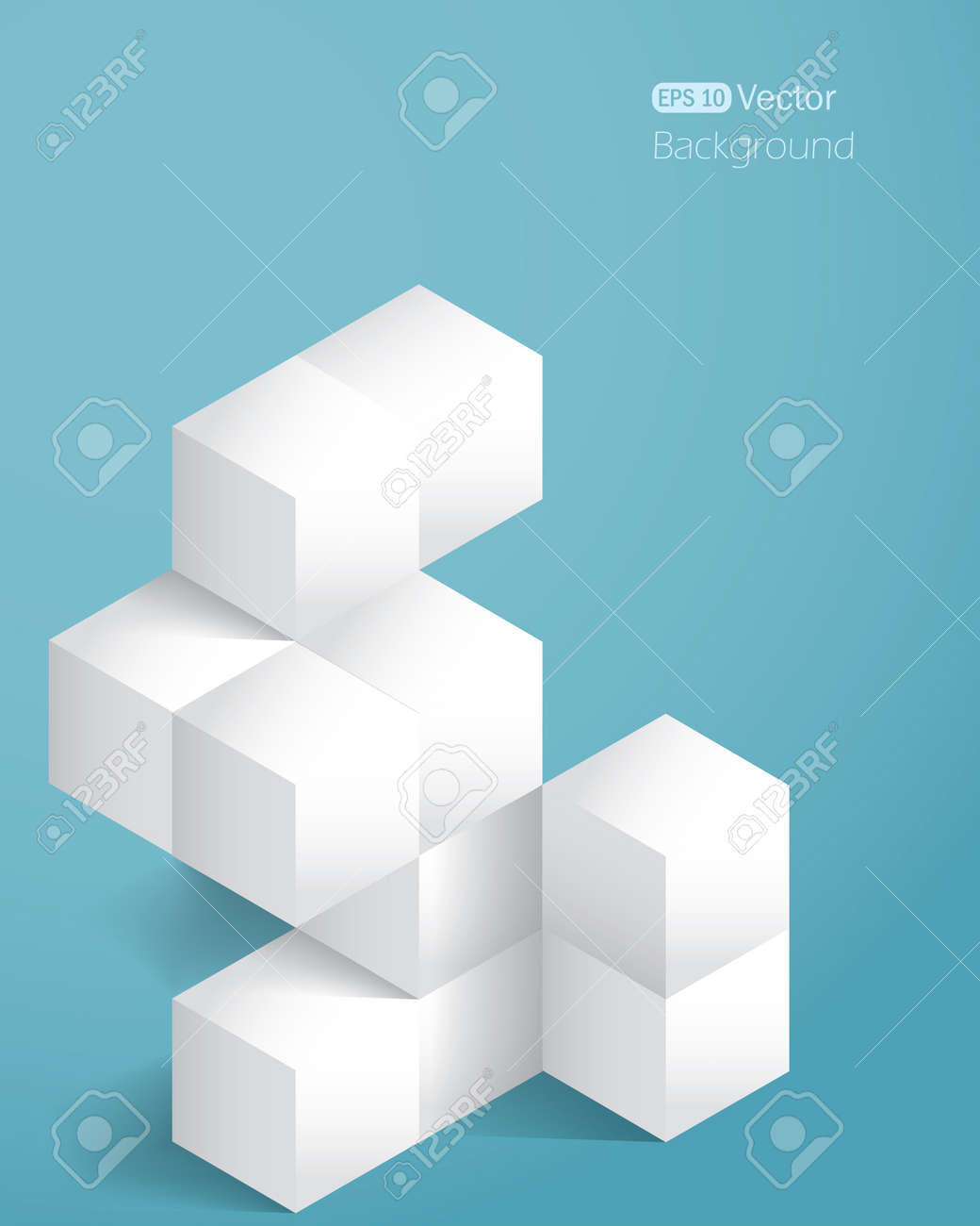 Realistic background with cubes  Vector illustration Stock Vector - 18981996