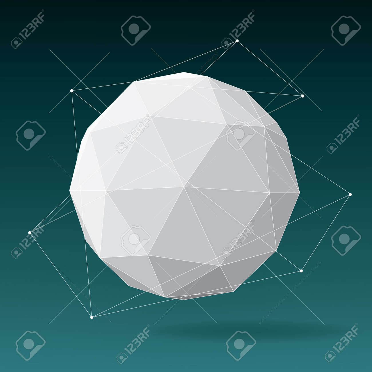 White globe geometrical background Stock Vector - 18981979