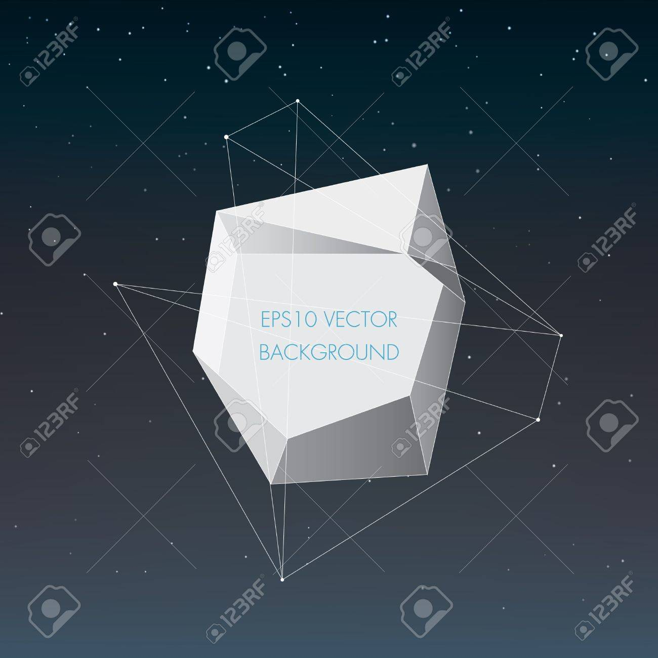 Abstract night sky landscape with geometrical form Stock Vector - 18982018