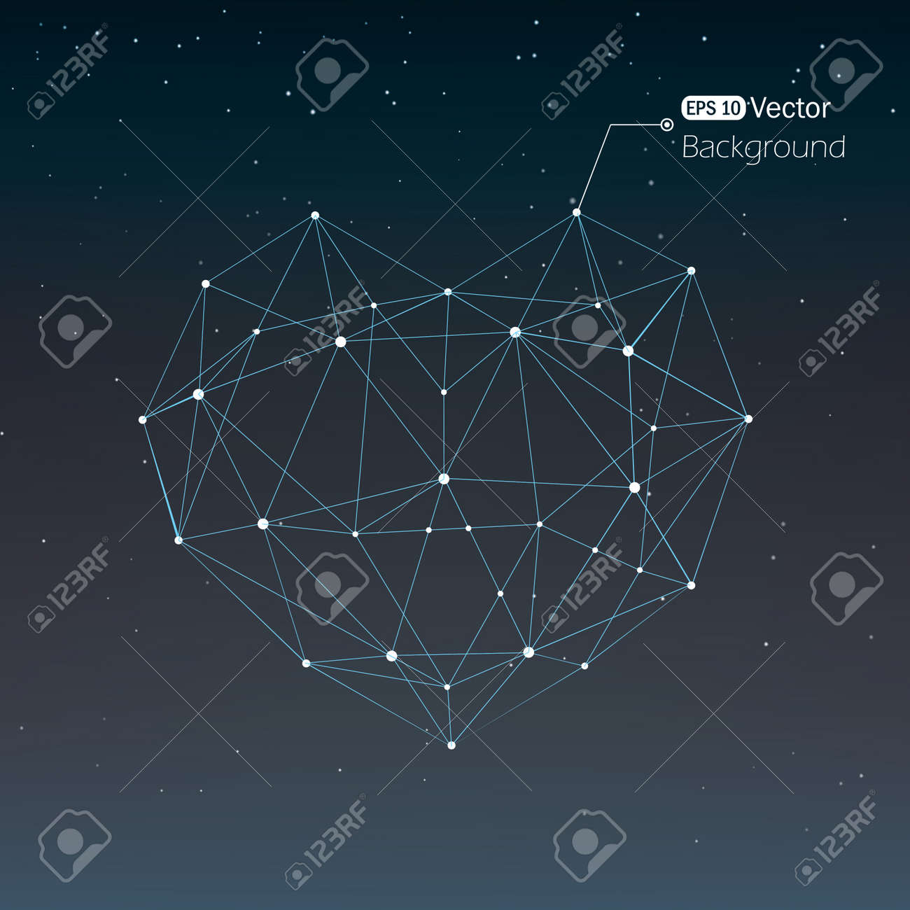 Geometrical heart background with lines Stock Vector - 18982025