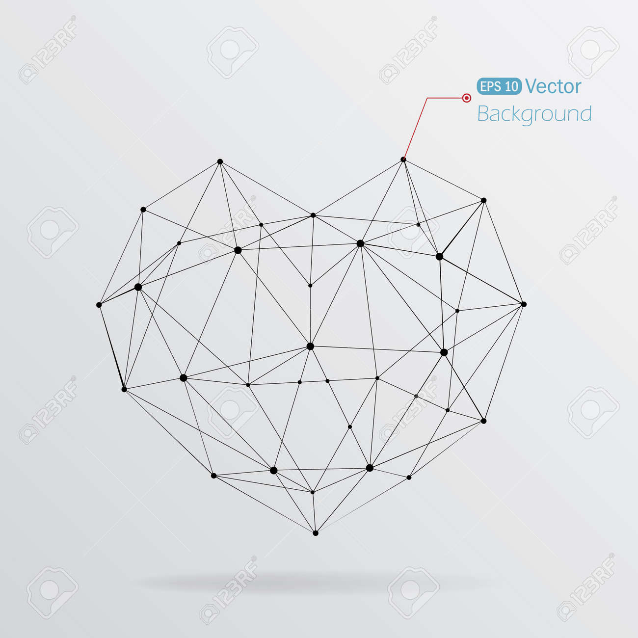 Geometrical heart background with lines Stock Vector - 18981980