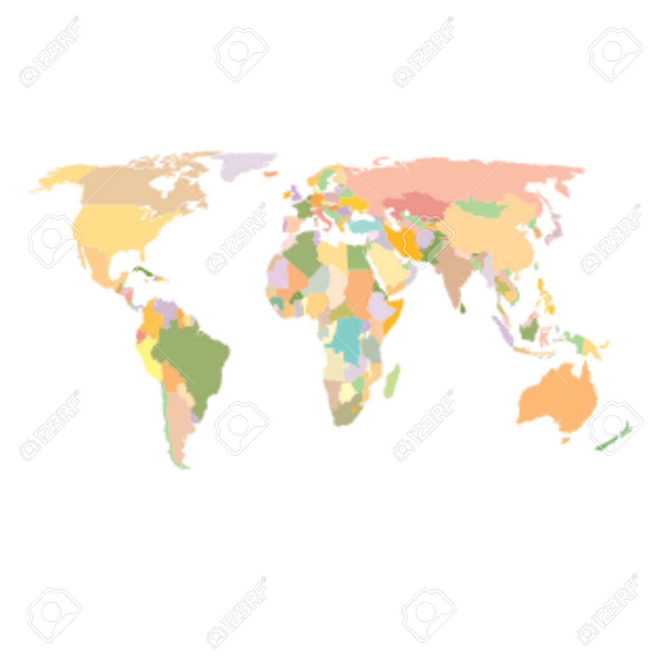 World map colored africa america asia europe oceania world map colored africa america asia europe oceania stock vector gumiabroncs Image collections