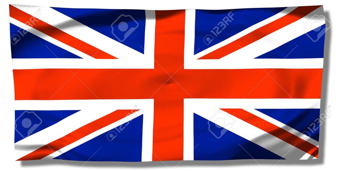 イギリス 英国国旗ユニオン ジャックのしわ の写真素材 画像素材