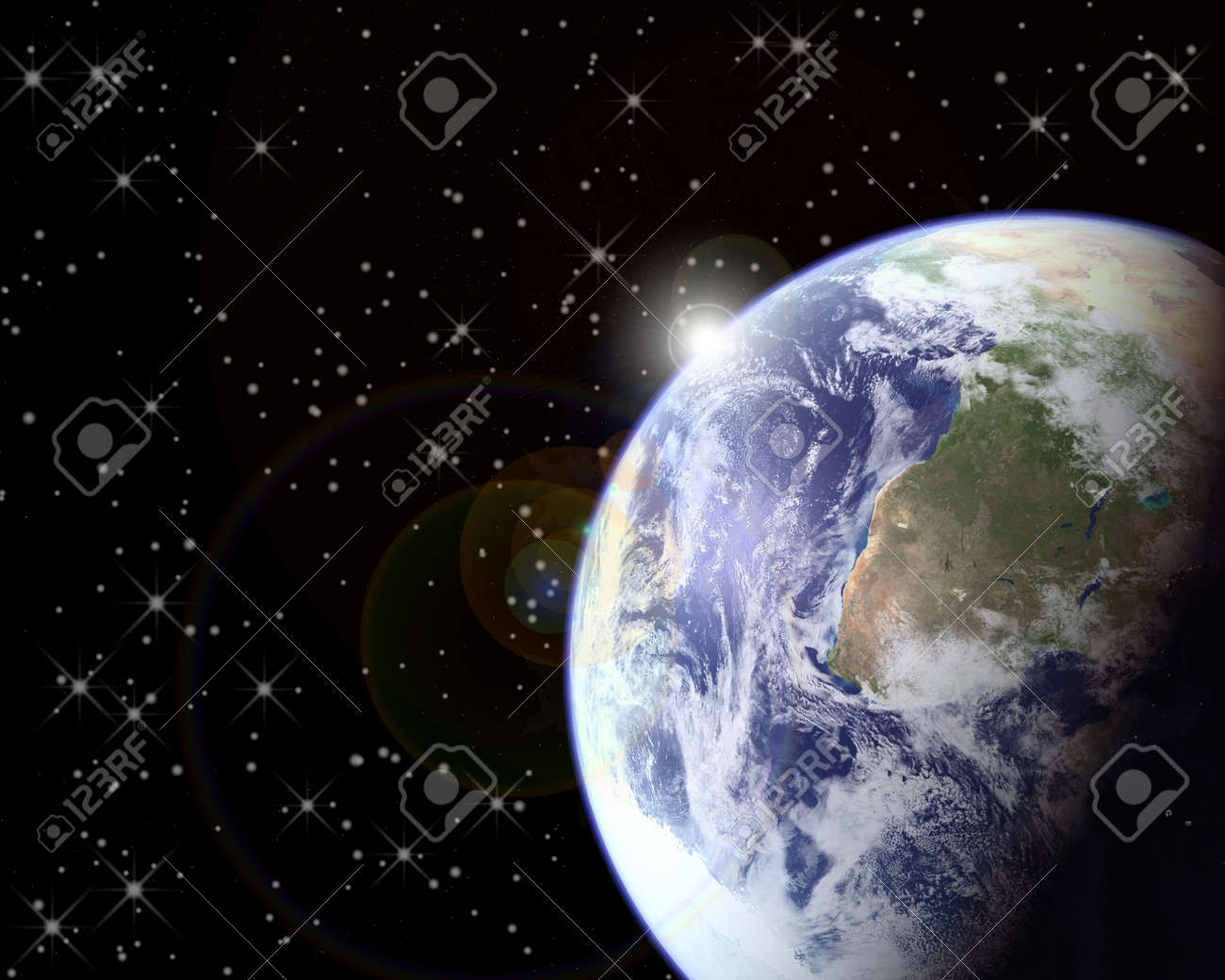 Earth and Outer Space Sunrise Stock Photo - 752953