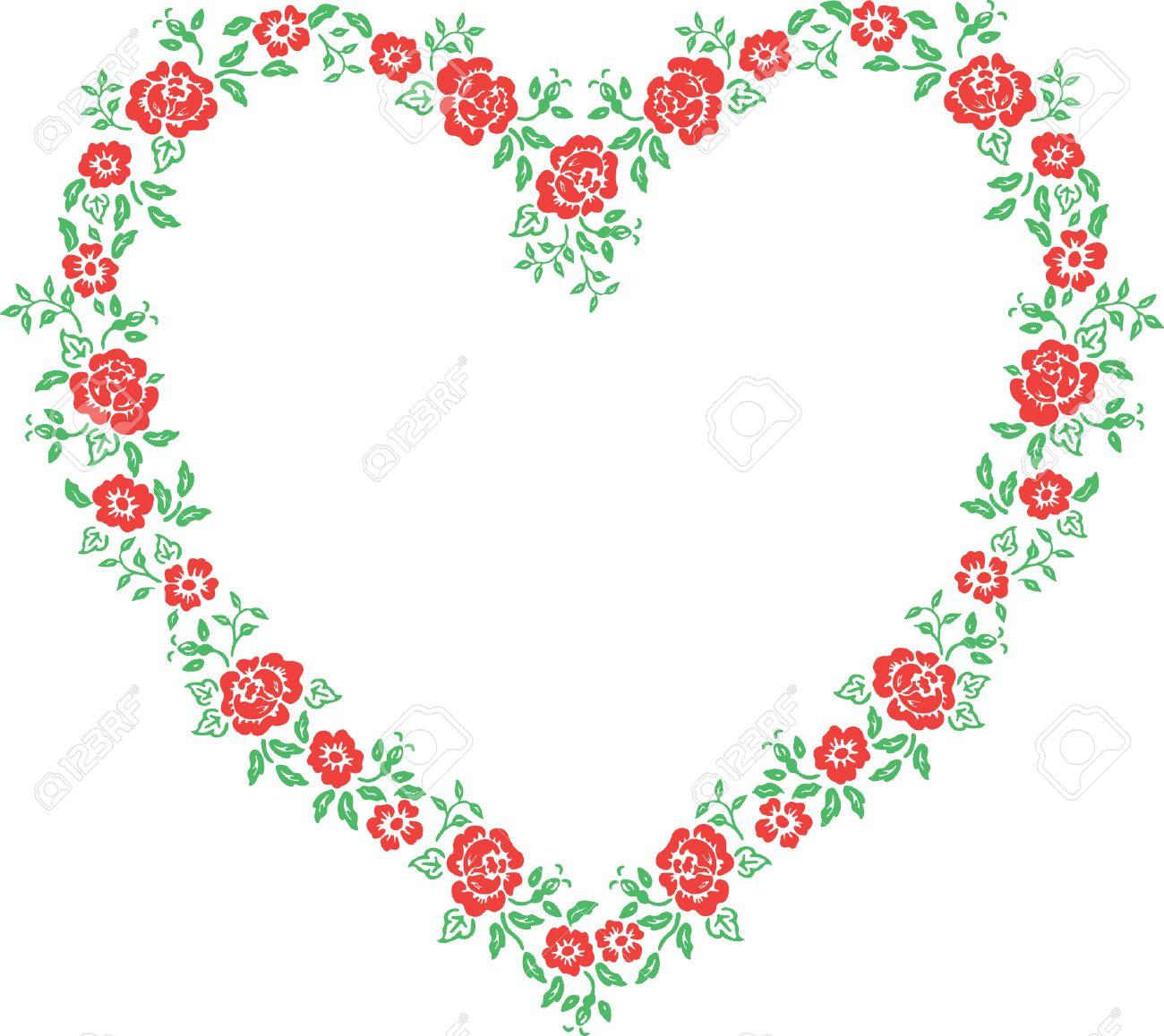 Valentine Frame - Floral Heart Stock Vector - 2501534