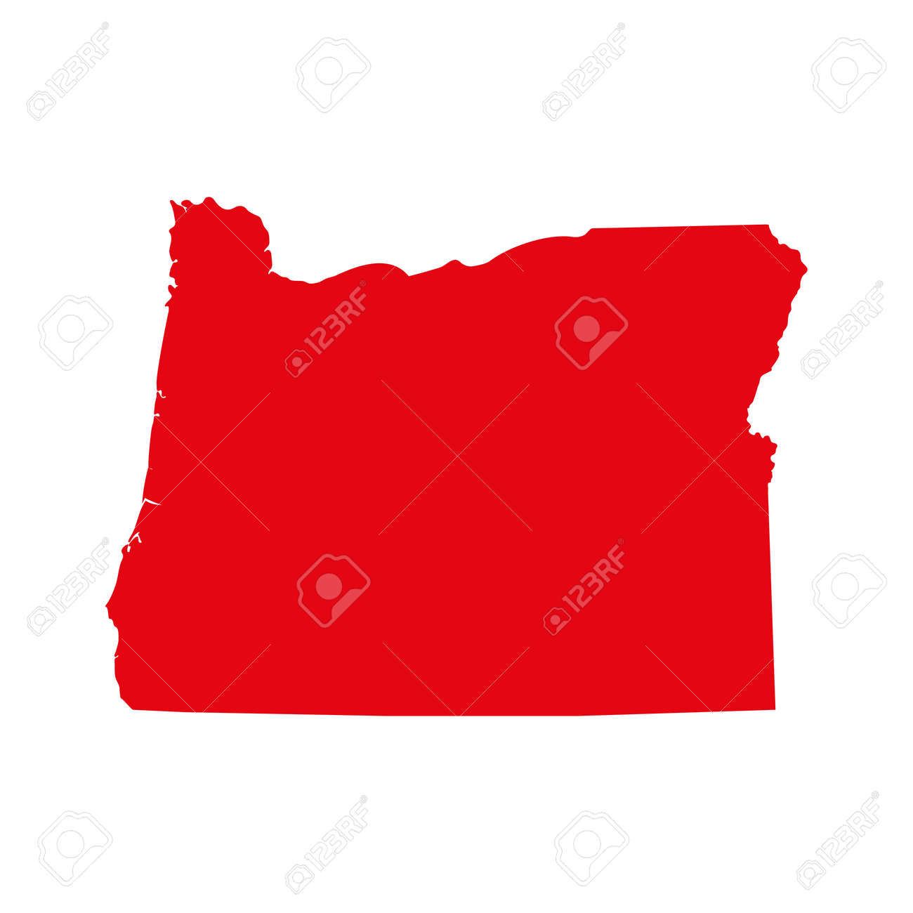 A Map Of The U.S. State Of Oregon Isolated On Plain Background ... S In Oregon Map on