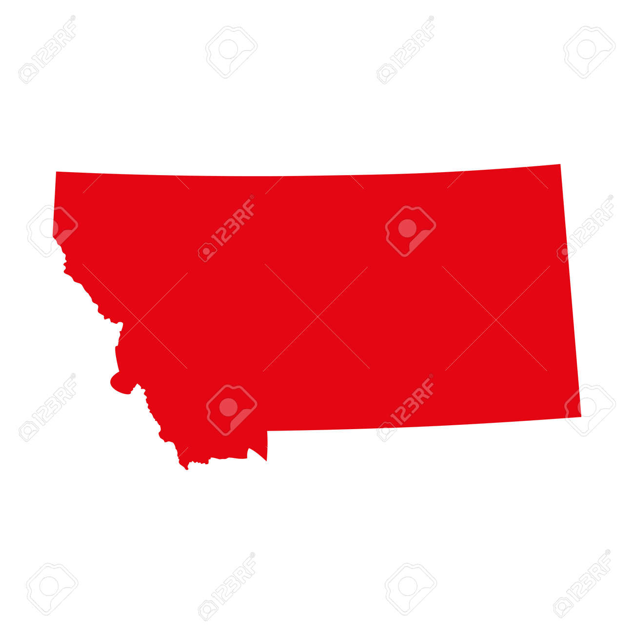 Map Of The US State Of Montana Royalty Free Cliparts Vectors