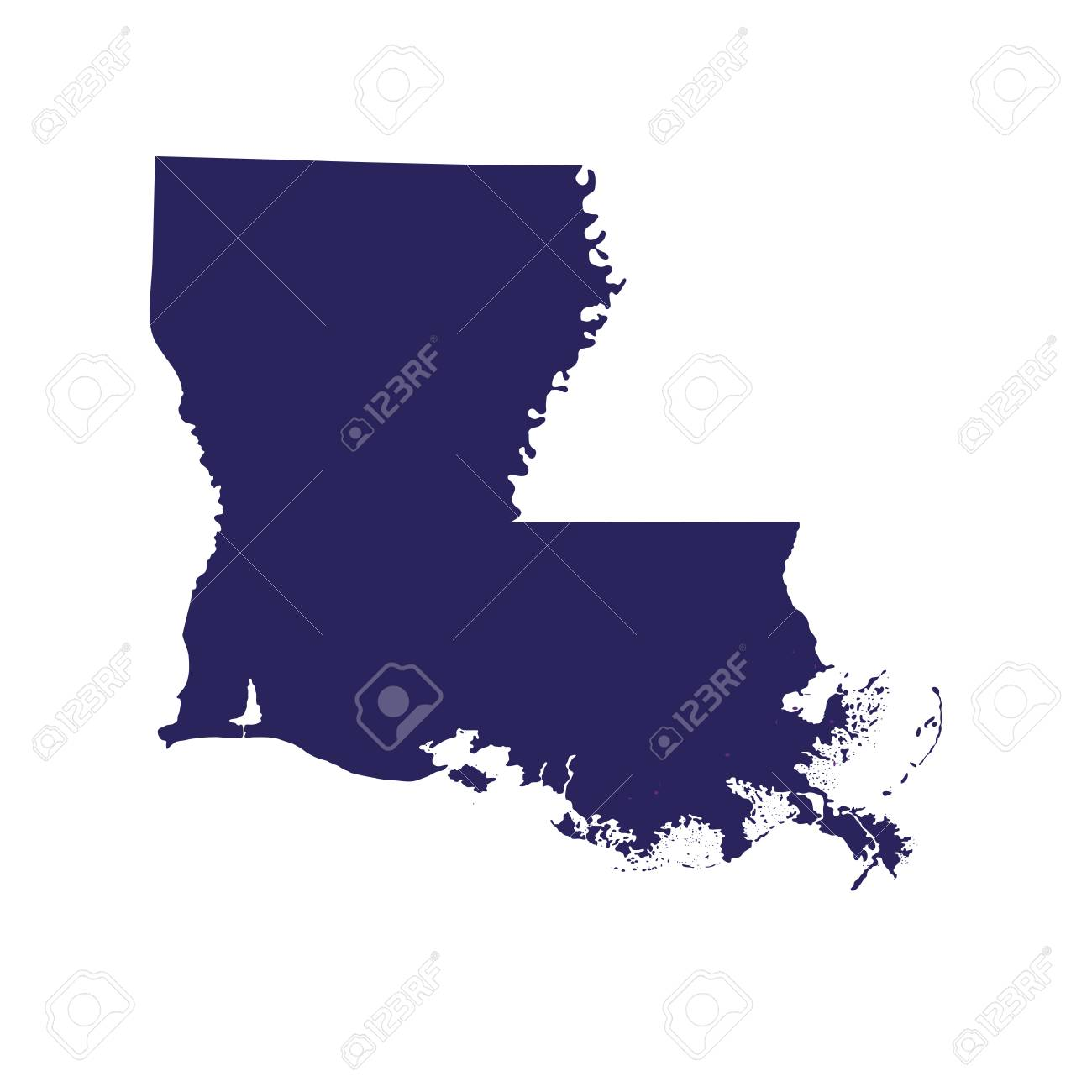 Map of the U.S. state of Louisiana in silhouette illustration. Map All Louisiana S on michigan's map, la city map, missouri's map, indiana's map, kentucky's map, oklahoma's map, mississippi's map, nevada's map, new mexico's map, maryland's map,