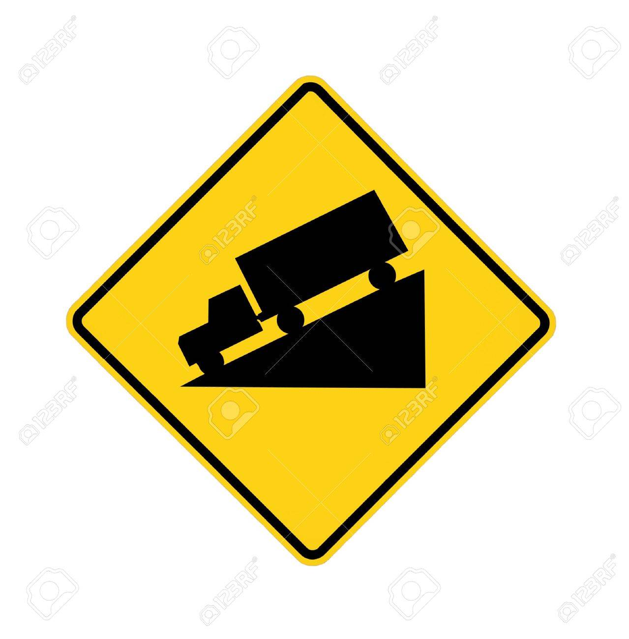 road sign - truck downhill Stock Photo - 5984836