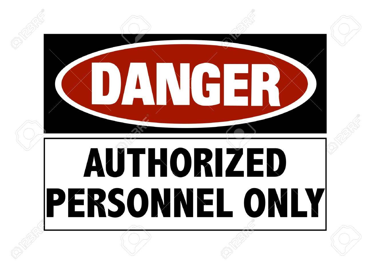 Danger sign - hard hats must be worn Stock Photo - 6637475