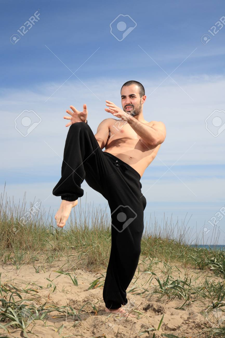 martial arts instructor exercising in the nature Stock Photo - 13928107