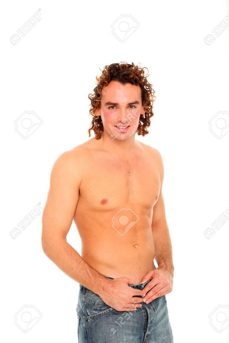 Guy half naked