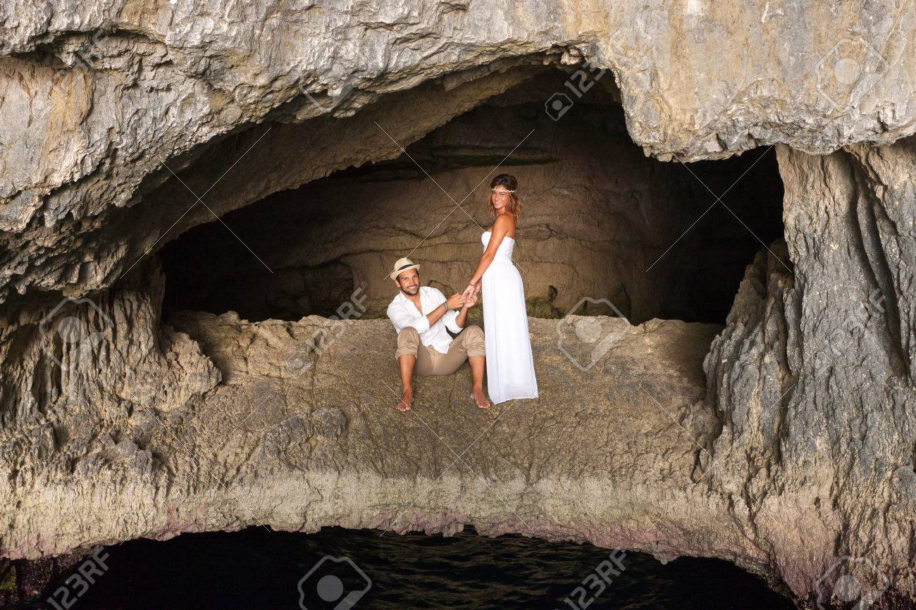 Inside A Cave Of A Greek Inside Cave Clipart
