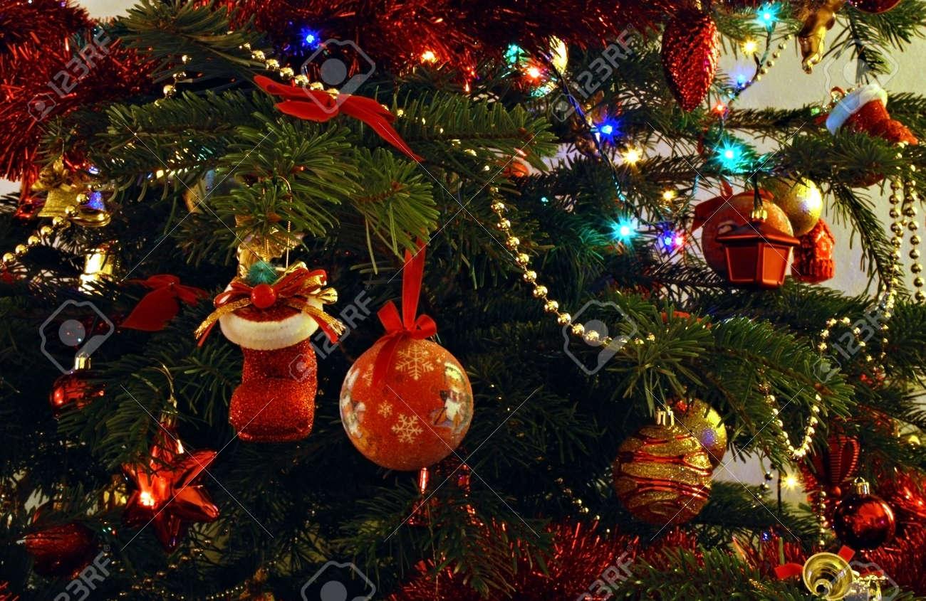real christmas tree with decorations and bulbs stock photo 2344563 - Christmas Tree Bulbs