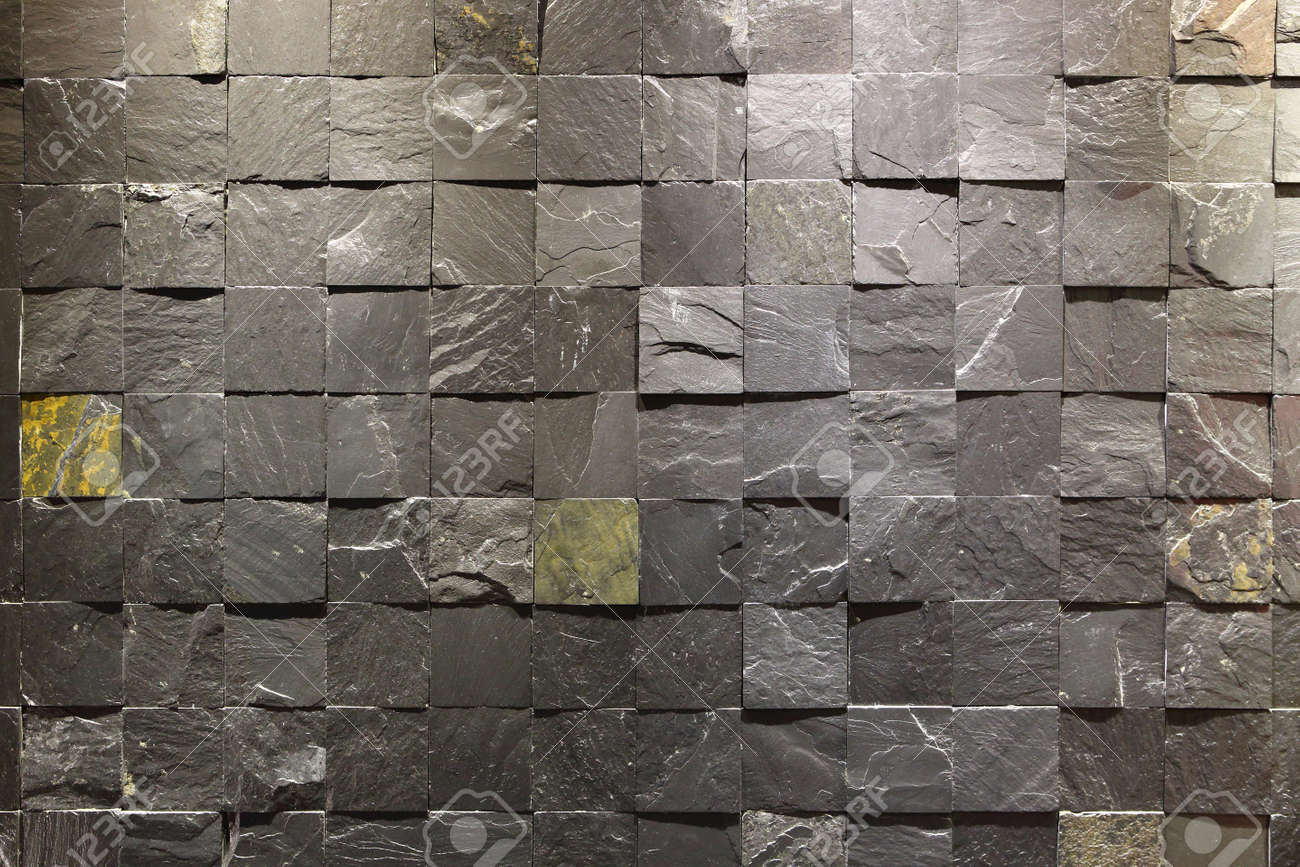 Square stone wall inside of the building Stock Photo - 16310149