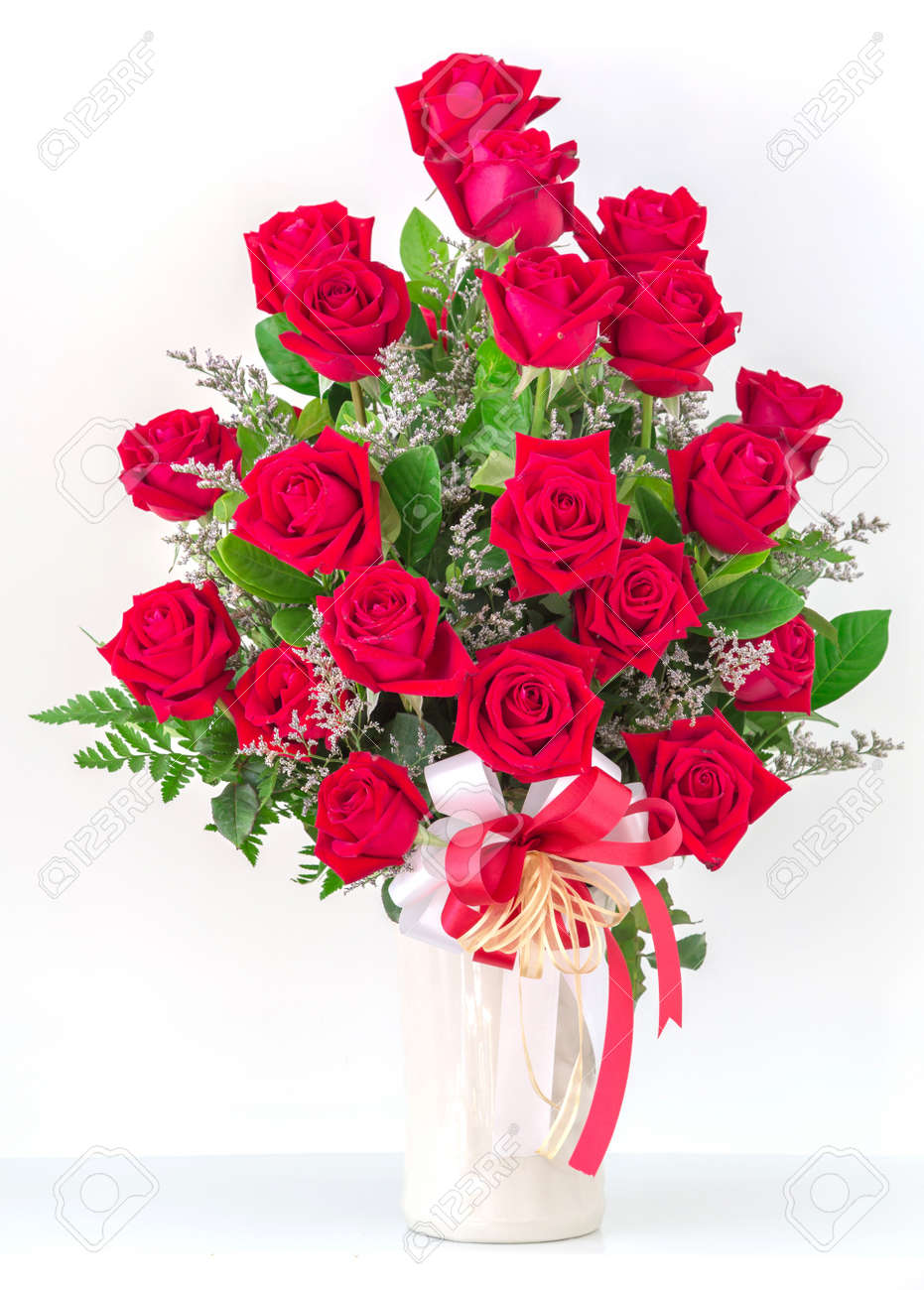 Pictures of red roses in a vase impremedia bouquet of red roses in a vase stock photo 17096601 reviewsmspy