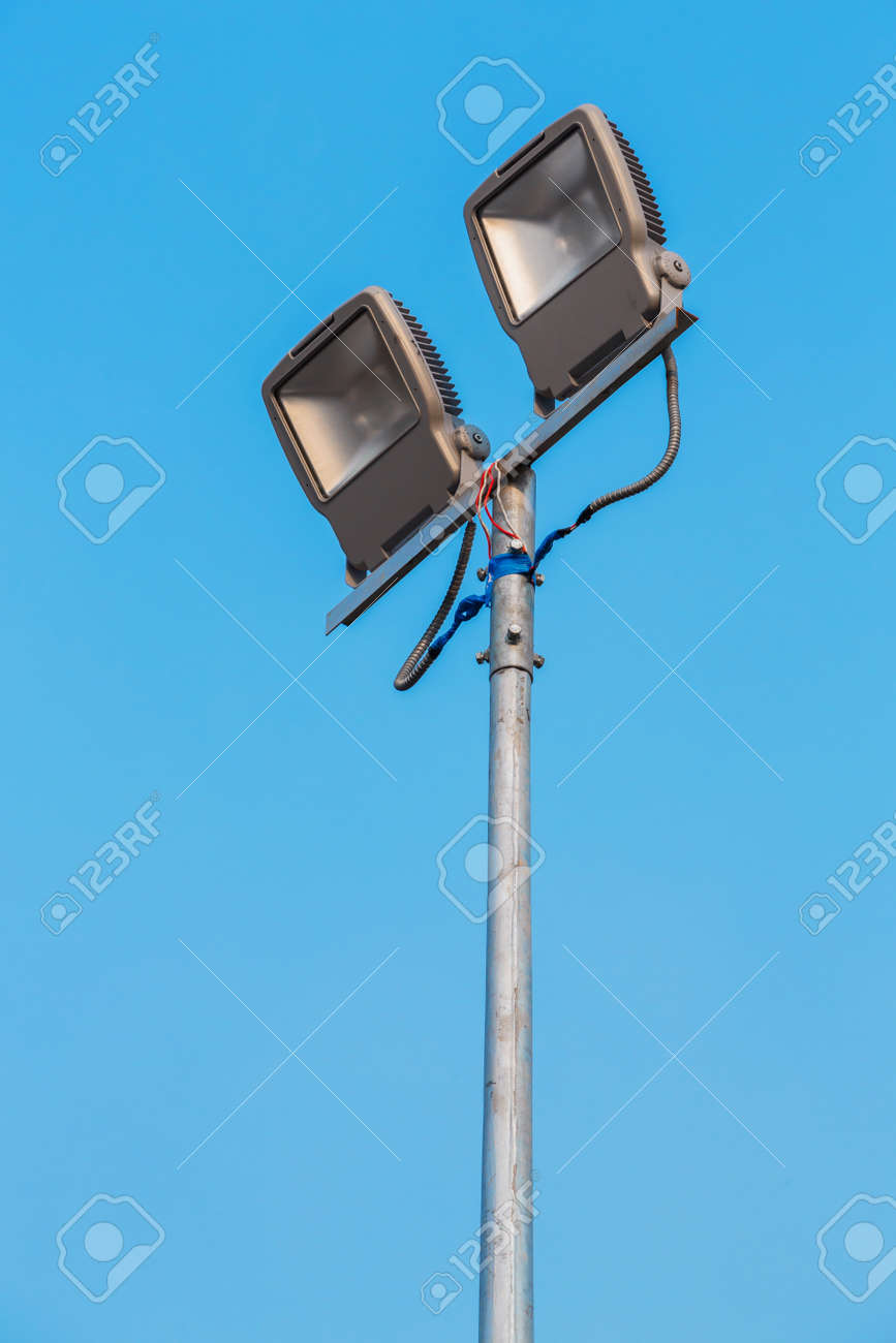 LED Flood light in blue sky Stock Photo - 17568333
