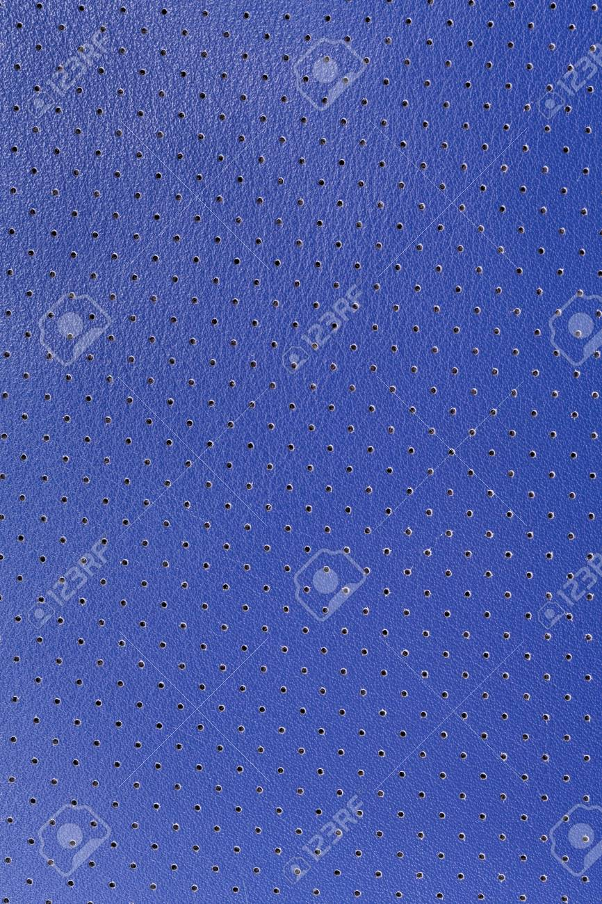 Close up blue imitation leather texture made from pvc Stock Photo - 19699927