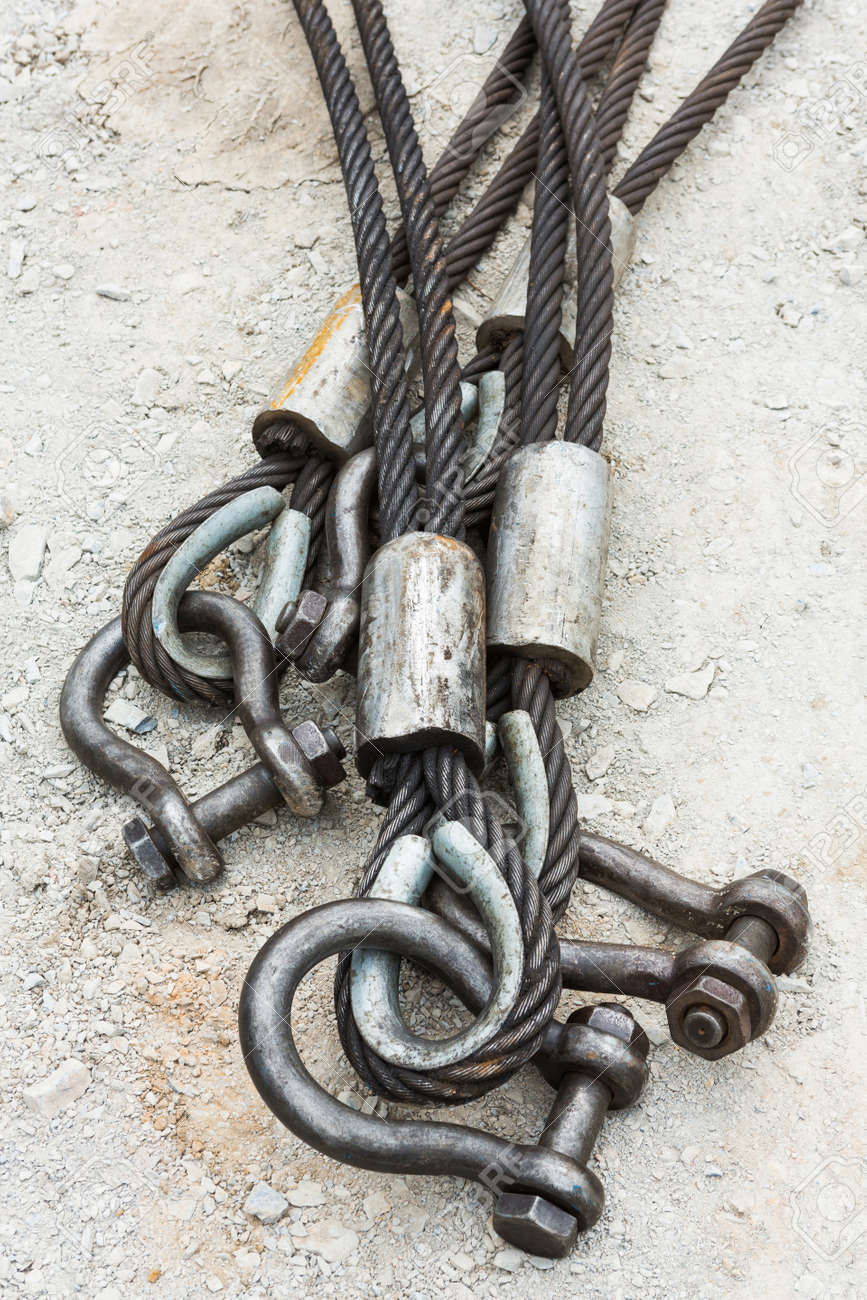 Heavy Duty Steel Wire Rope Sling With Safety Anchor Shackle Bolt ...