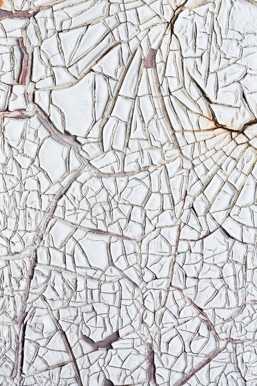 Close up white color cracked paint texture background Stock Photo - 22075786
