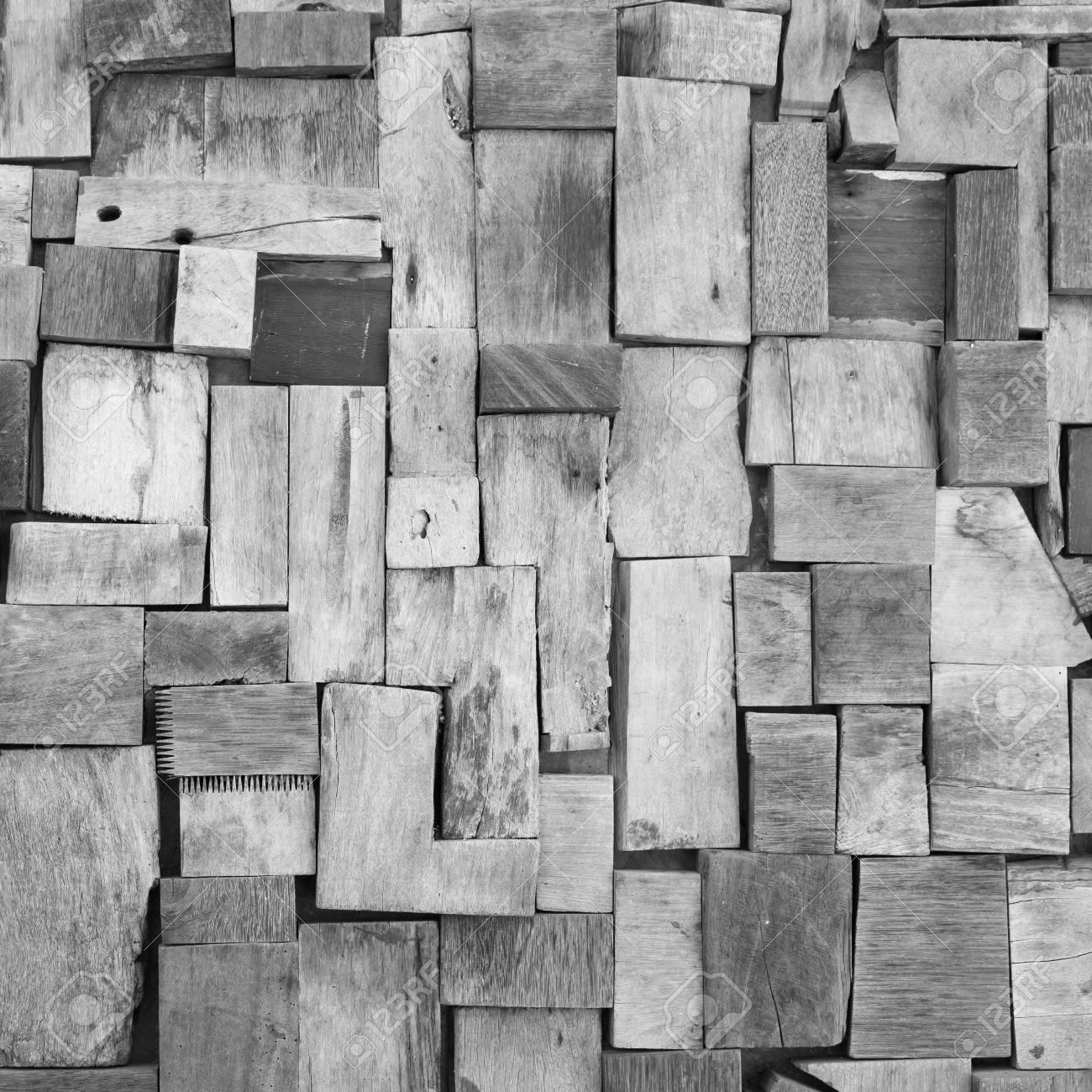Schwarze Und Weisse Farbe Schmutzigen Alten Holzernen Wandfliesen