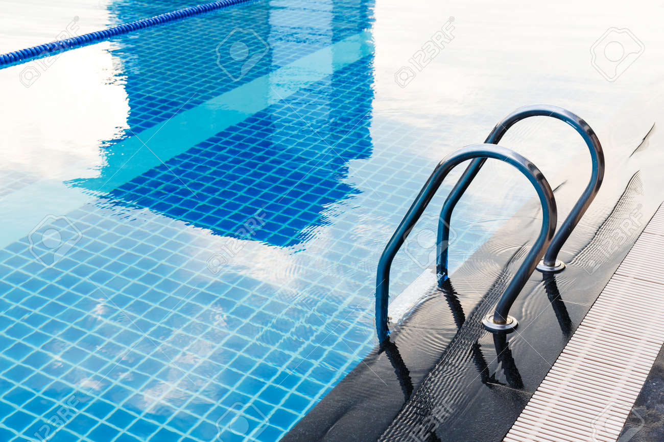 Stainless steel swimming pool hand rails