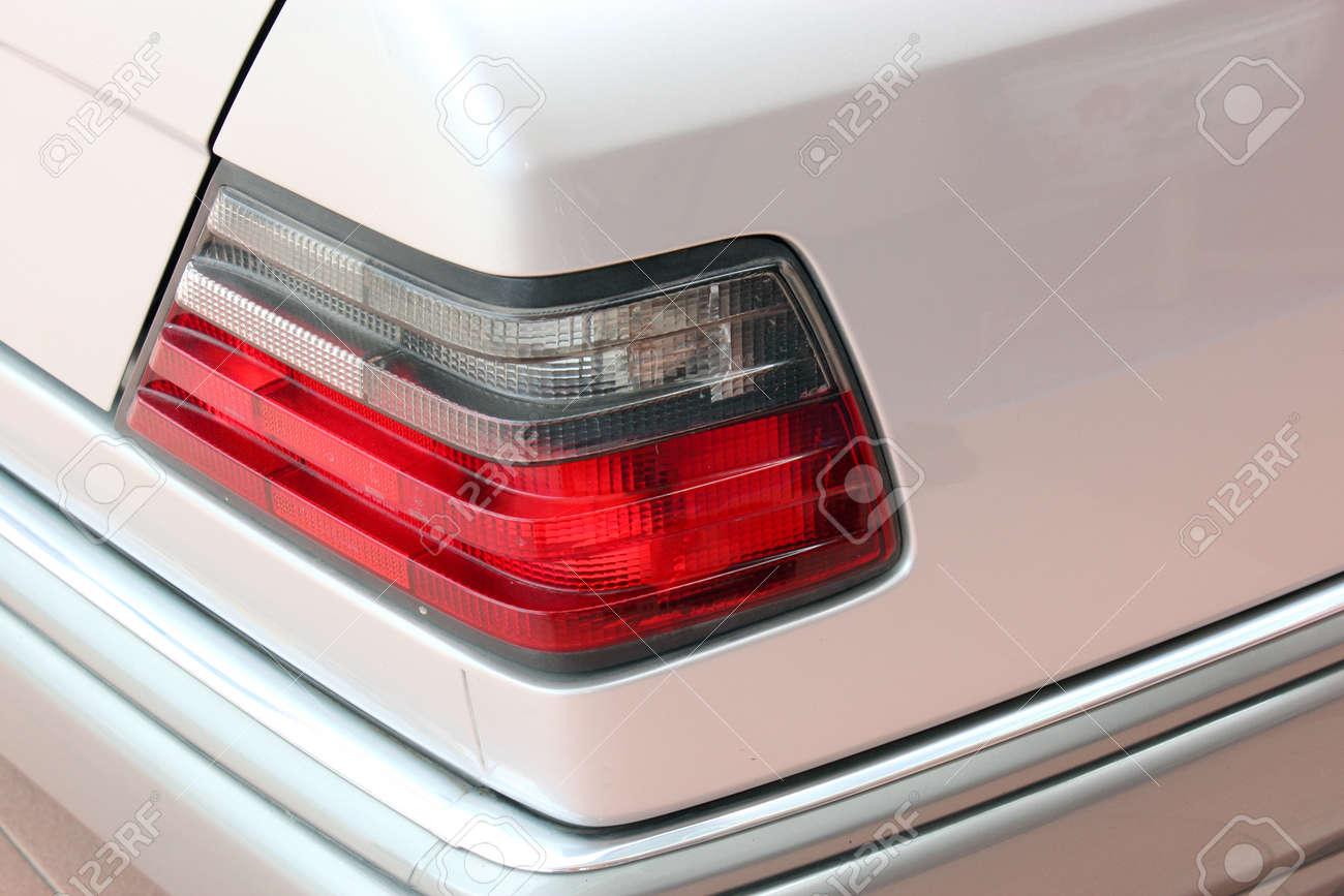 Closeup of the tail light of a car Stock Photo - 13682919