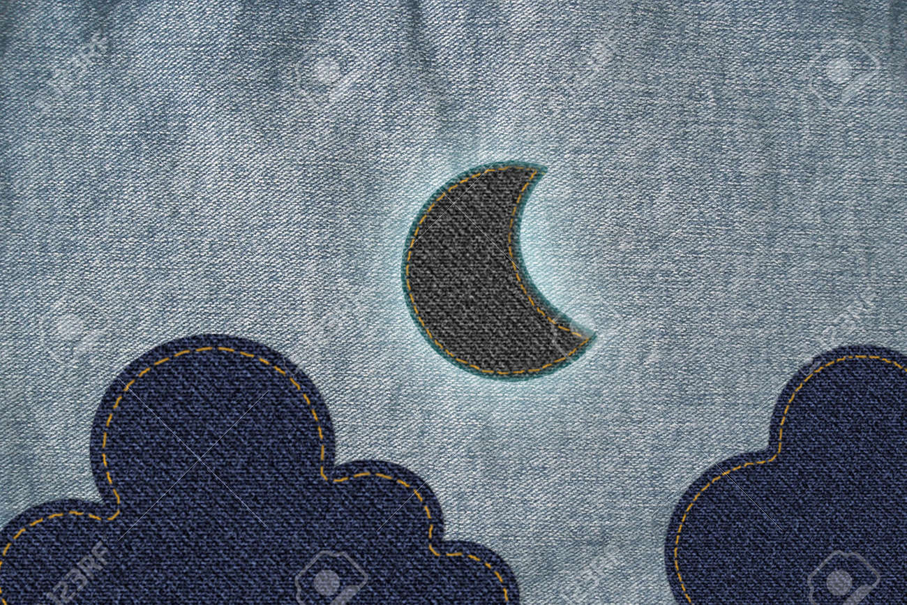 Moon with cloud on jean Stock Photo - 13362291