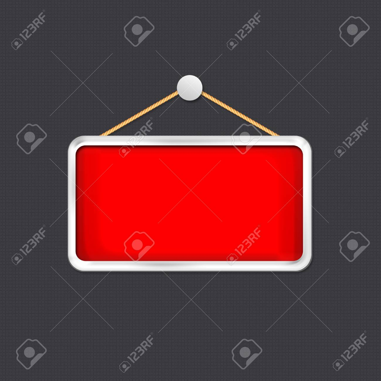 red hanging sign Stock Photo - 16277128