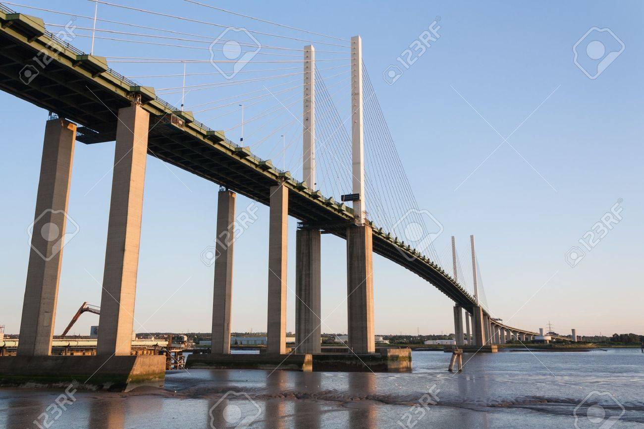 Cable Stayed bridge Dartford Kent Stock Photo - 17177317