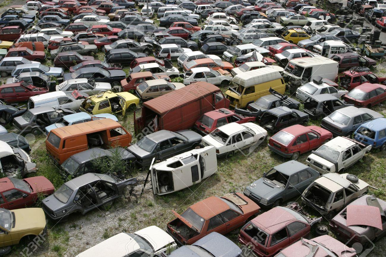 Car scrap, scrap metal, recycling Stock Photo - 13665124