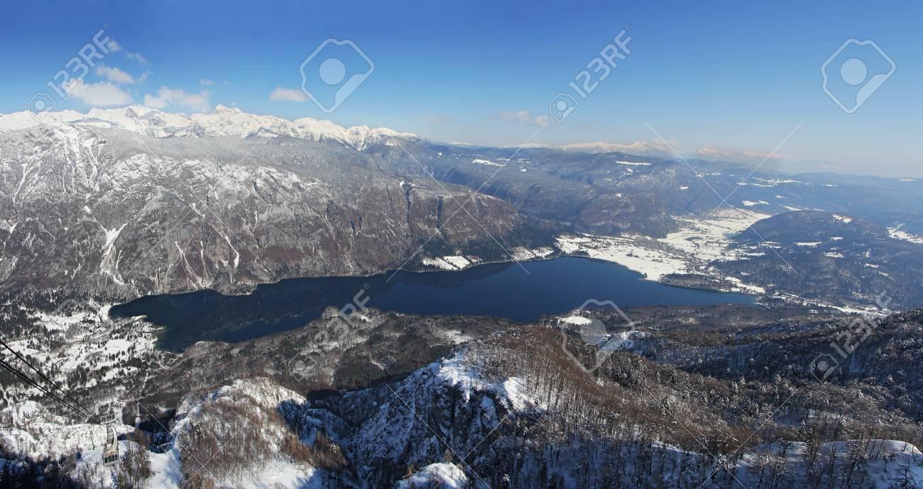 Lake Bohinj below the highest Slovenian mountain Triglav Stock Photo - 18576203