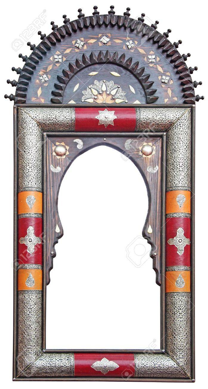 Antique Moroccan mirror frame Stock Photo - 19837470