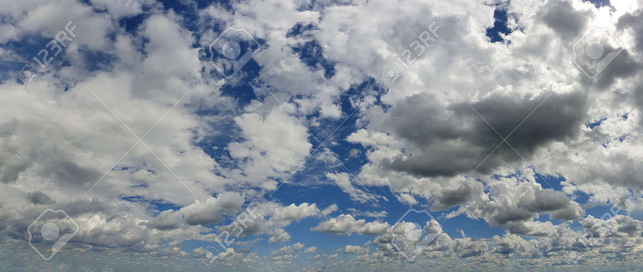 Blue sky background with white clouds panorama - 146773323