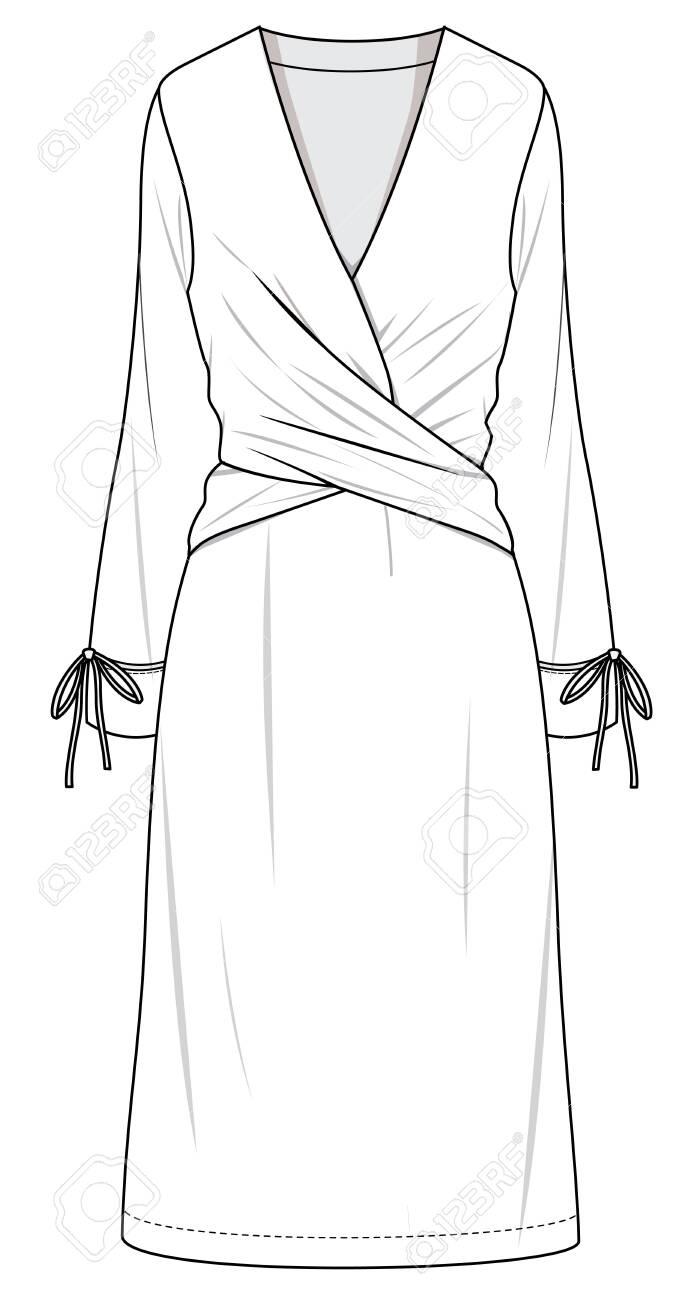 technical drawing fashion dress