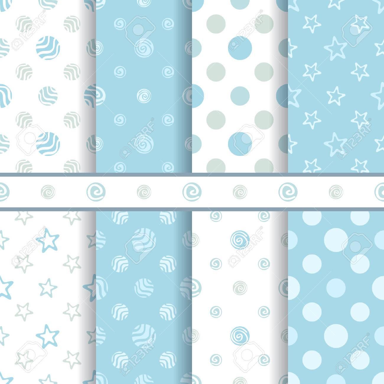 f68d4e305fa7 Cute Baby Vector Patterns Set - Seamless Boy Blue Texture Royalty ...