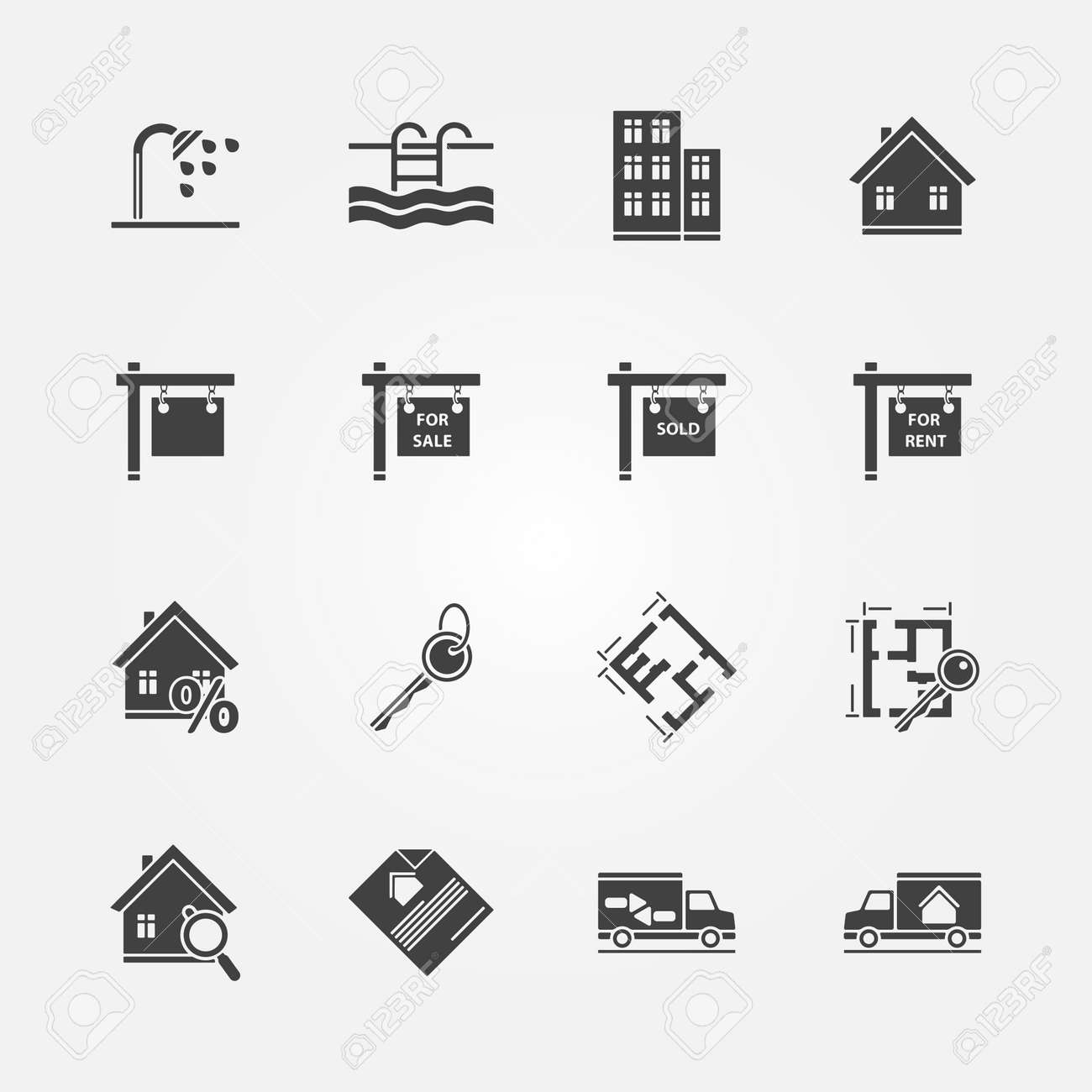 Real estate icons vector real property or realtor symbols real estate icons vector real property or realtor symbols stock vector 31430776 biocorpaavc Image collections