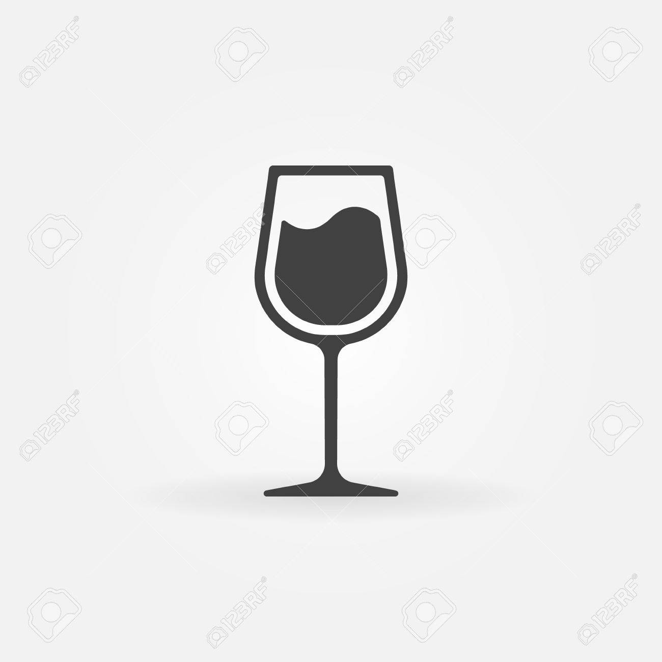 glass of wine vector icon black symbol or logo royalty free rh 123rf com wine vector free download vine vector art