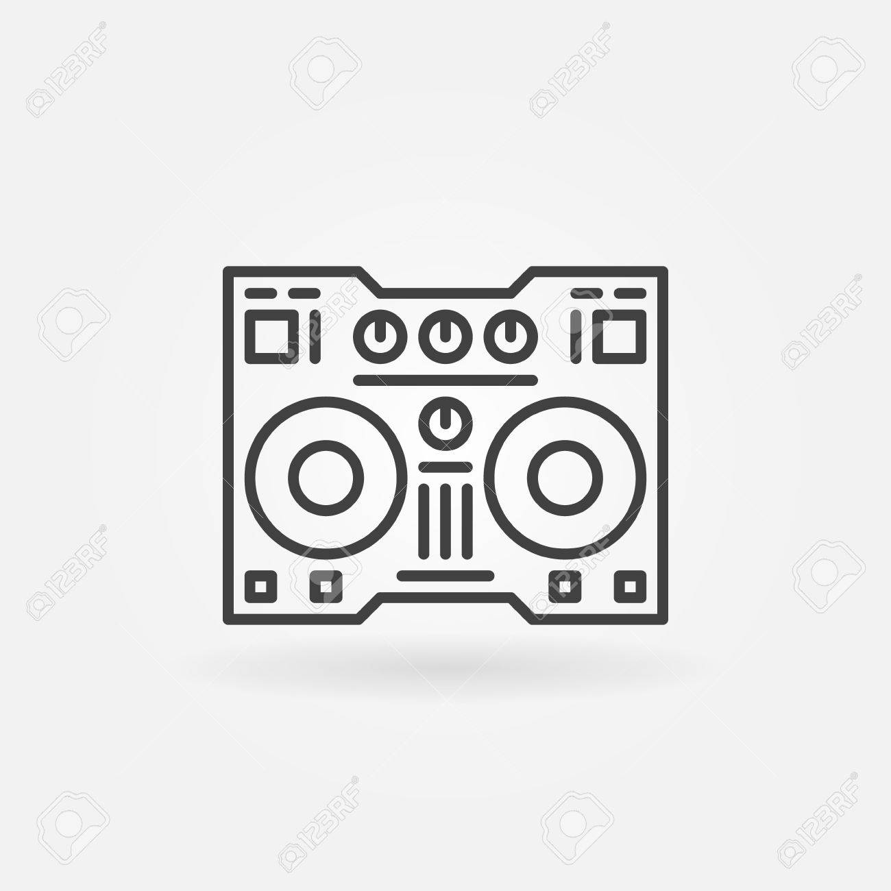 DJ Controller Linear Icon