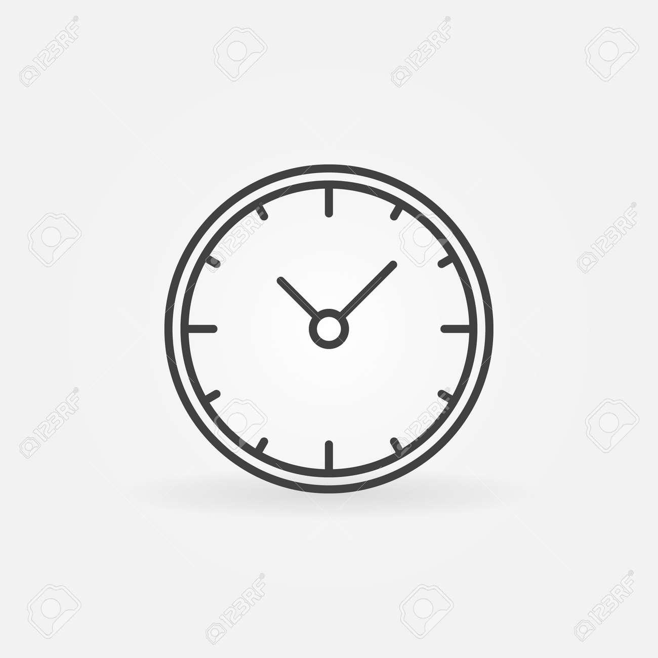 753970fd9ee4 Foto de archivo - Icono de reloj de pared - vector señal de reloj lineal o  elemento de logotipo