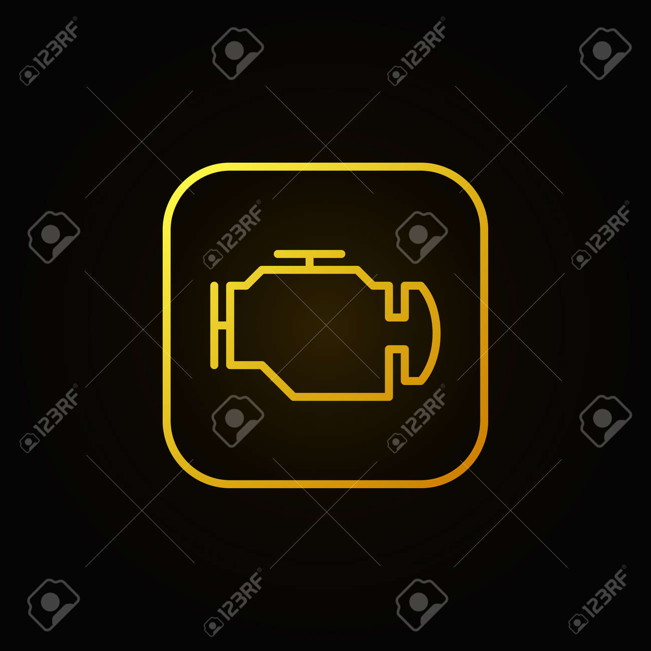 Check engine yellow icon vector car diagnostic concept sign check engine yellow icon vector car diagnostic concept sign or logo element on dark background biocorpaavc Gallery
